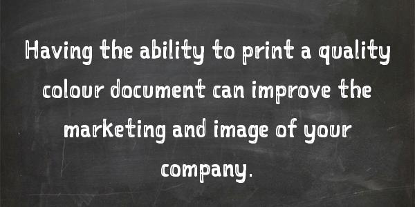"""Can I Afford A Colour Printer?"""