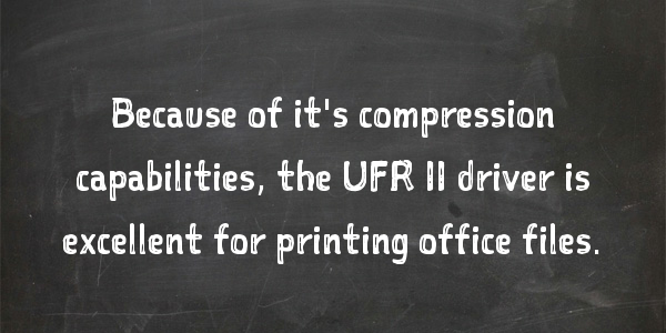 """What is the Difference Between a PCL, UFR II and PostScript Print Driver?"""